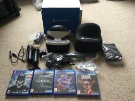 PS VR Latest edition plus games bundle