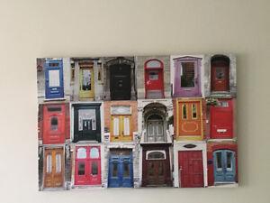 Très beau tableau des portes acheté chez Rona