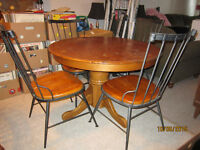 4 Chair Wood Kitchen Table Set