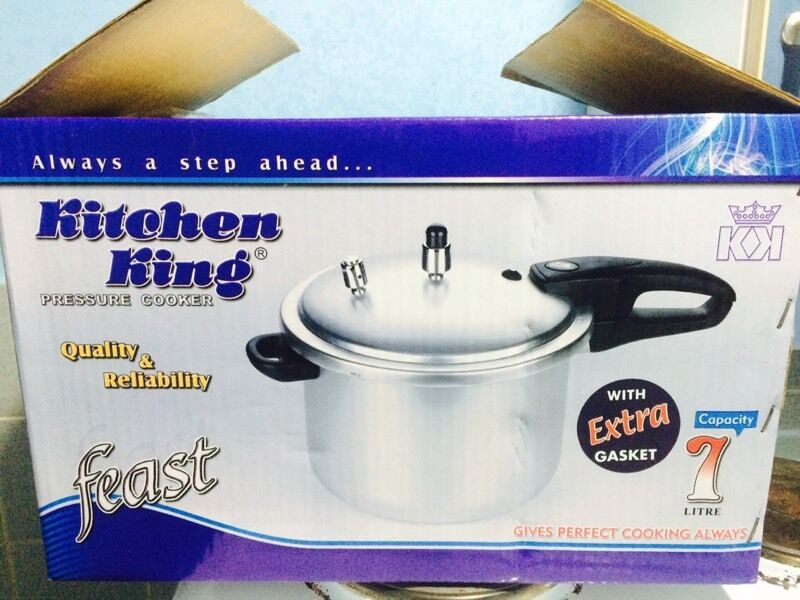 Pressure Cooker Kitchen King 7 Litre Capacity Quality Aluminium