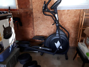 Elliptical 21 lb flyweight plus weight bench and weights.