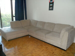 L-shaped couch. comes in two pieces