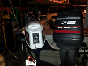 75HP Force Outboard Motor with Controls and wires!