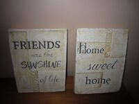 WALL DECOR - $12.00 for BOTH