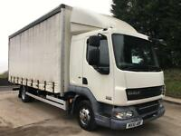 2010 10 DAF LF 45.160 Euro 5, sleeper cab, 20ft curtainsider, tail-lift