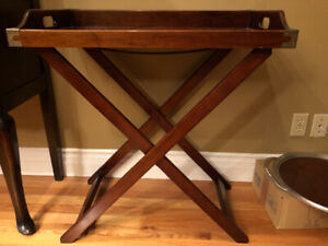 British Colonial Butlers Tray Table