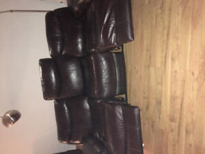 Dark Brown recliner couch electric