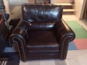 Fauteuil Inclinable en cuir / 1 seat Leather Recliner