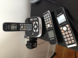 Téléphone résidentiel Panasonic 3 cambinés