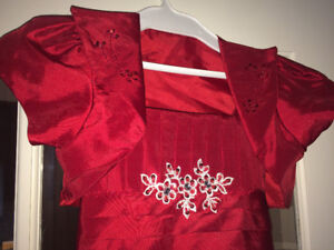 Girls Red Dress with Bolero Jacket - Size 14 be60a9c6e