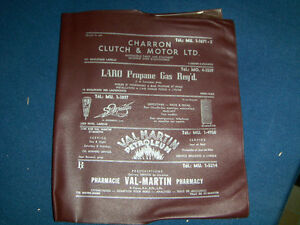 VINTAGE 1960'S PLASTIC TELEPHONE BOOK COVER-LAVAL-QUEBEC