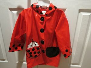Kidorable Raincoat -Ladybug, Size 4/5