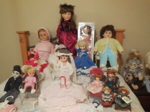 Many Dolls and accessories