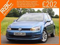 2013 Volkswagen Golf 1.6 TDI Turbo Diesel SE Bluemotion Technology 5 Door 5 Spee