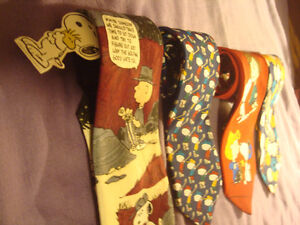 4 Novelty Ties - Charlie Brown and The Gang - one with Tag