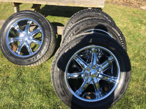 20 inch tires and rims 1 season old