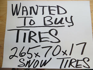 XXX WANTED TO BUY SNOW TIRES 265 X 70 -17 ON G.M. RIMS XXX