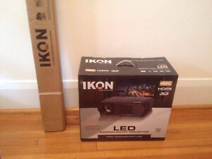 IKON ik900 HD Smart Projector 4K and 3D with 72 Inch Screen