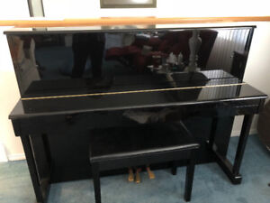 Piano for sale, upright, black ebony