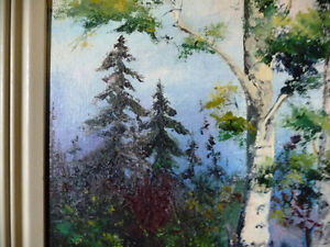 "Original Oil Painting by E. Tyson ""Forest Study"" 1976 Stratford Kitchener Area image 6"