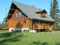 BEAUTIFUL LOG HOME & ACREAGE  - Mackenzie, BC