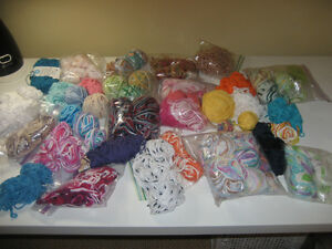 Huge Lot of 100% Cotton Yarn - Partial Balls of ALL COLOURS!