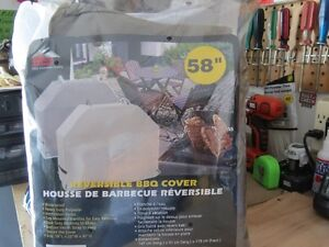 BRAND New 58 in Reversible BBQ Cover