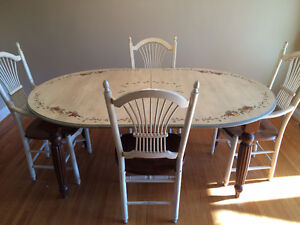 Custom made 'French Country' style dining set