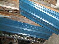 20 some sheets of metal for roof or outside walls
