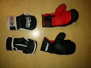 FAIRTEX MMA SPARRING GLOVES and FRANKLIN BOXING GLOVES