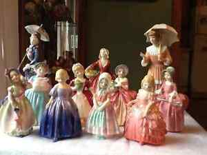 Royal Doulton Figurines Vintage Antique for Christmas