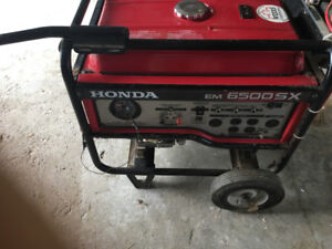Honda 6500 watt generator for sale, $2700.00