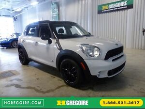2013 Mini Cooper S ALL4 AWD TOIT DOUBLE A/C Bluetooth
