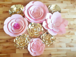 Pink and Gold Flowers - Toronto Paper Flowers