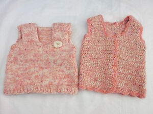 Hand-Knitted Vest (Girl 9 - 12 months)