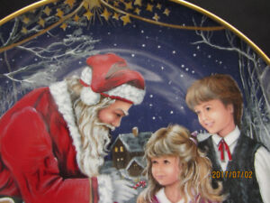 """COLLECTOR PLATE """"A Visit with Santa"""""""