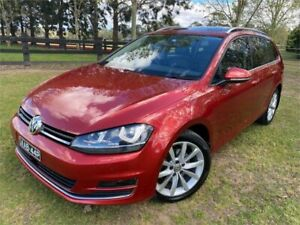 2015 Volkswagen Golf AU MY15 110 TDI Highline Red 6 Speed Direct Shift Wagon Richmond Hawkesbury Area Preview