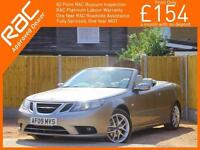 2009 Saab 9-3 1.9 TID Vector Sport 150 BHP 6 Speed Convertible Bluetooth Full Le