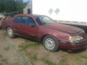 1987 ford turbocoup 5 speed new clutch.body a bit rough