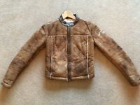 Replay brown suede biker style jacket