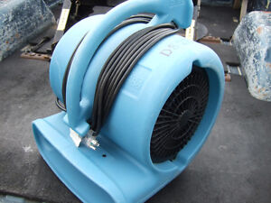 Flood drying fans