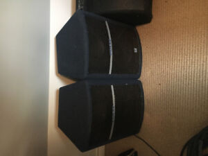 Yourkville Pulse PL 10 speakers with stands.