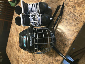Bauer helmet and skates CSA approved