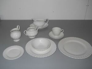 set of white dishes for 6