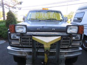FORD TRUCK 1980 with FISHER PLOW