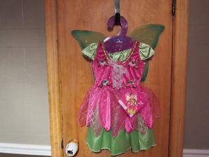 Costume d'halloween de fée  en parfaite condition 5-6 fillette
