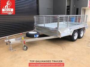 10x6 Tandem Trailer Galvanised Fully Welded Heavy Duty with 600mm Cage