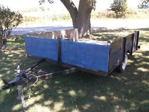 Utility Trailer. Low Bed. Good solid trailer. 8' long by 6' wide