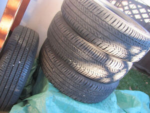 Set of Four, 175/65 R 15, M & S, Bridgestone Tires,Lots of tread Prince George British Columbia image 6