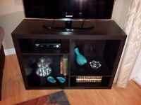 TV stand with shelves like new conditions